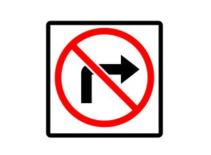 NativeCampレッスン教材/右折禁止の標識