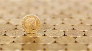 敷き詰められた金色のコイン